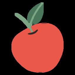 Ilustración de manzana roja