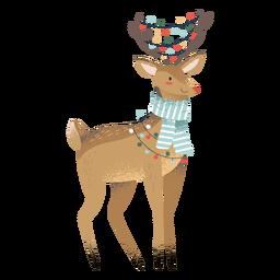 Reno navidad lindo animal ilustración