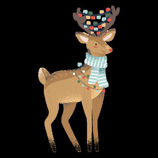 Ilustração de animal fofo de natal de rena Transparent PNG