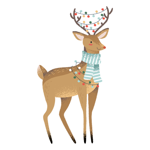 Reindeer christmas cute animal illustration Transparent PNG