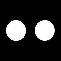 Gafas de diseño en forma redonda dibujadas a mano.