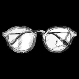 Diseño de boceto de gafas redondeadas