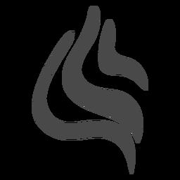 Ícone de fios arredondados
