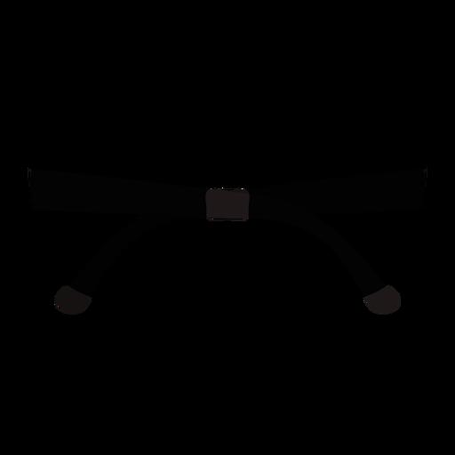 Rounded oversized sunglasses flat