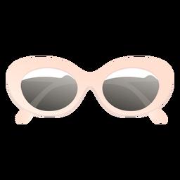 Gafas de sol redondeadas extragrandes brillante
