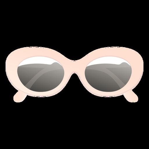 Rounded oversized sunglasses glossy
