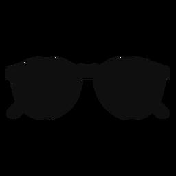 Abgerundete Sonnenbrille flach