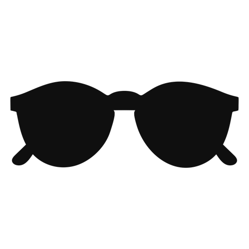 Rounded sunglasses flat Transparent PNG