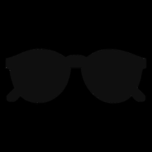 Rounded sunglasses flat