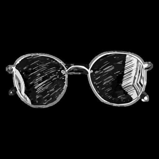 Rounded sunglasses sketch design Transparent PNG