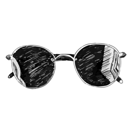 Rounded sunglasses sketch design