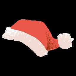 Chapéu de Papai Noel com ilustração de chapéu