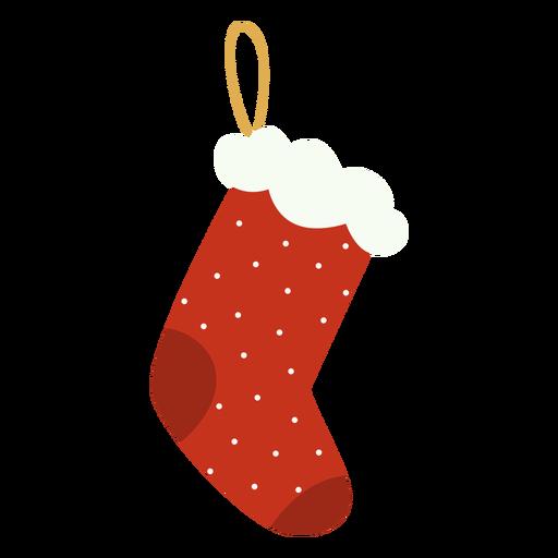 Santa claus sock decoration flat