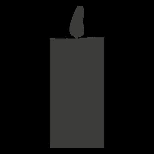 Silueta de vela de un solo pilar
