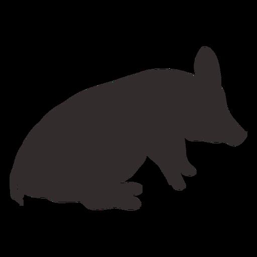 Sentado vista lateral silueta de cerdo