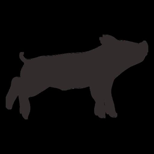 Pequeña silueta de cerdo de pie