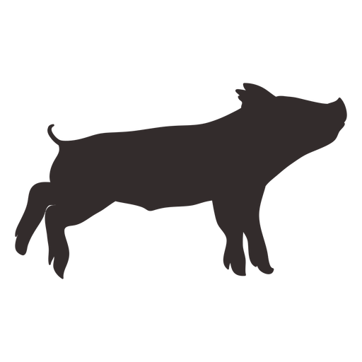 Small standing pig silhouette