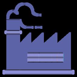 Silueta de edificio de fábrica de fumadores