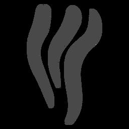 Silhueta do ícone de fios fumados