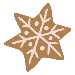 Schneeflocke Weihnachten Lebkuchen Keks