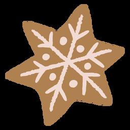 Snowflake christmas gingerbread cookie