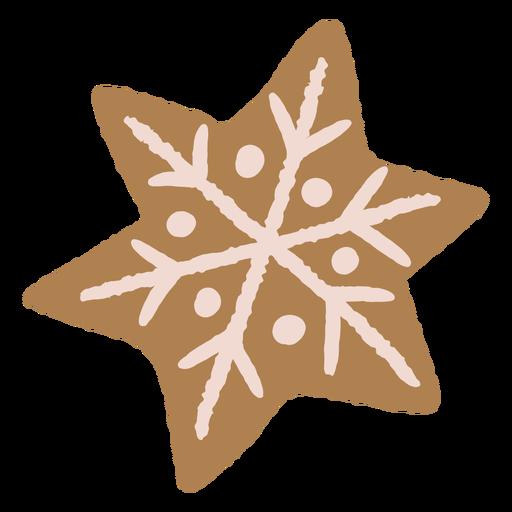 Copo de nieve navidad galleta de jengibre