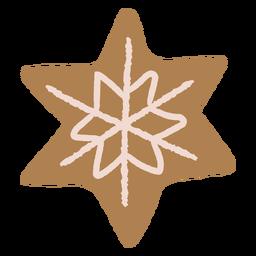 Ilustración de galleta de jengibre copo de nieve