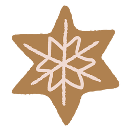 Snowflake gingerbread cookie illustration