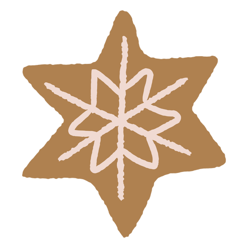 Ilustraci?n de galleta de pan de jengibre de copo de nieve