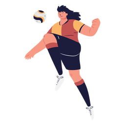 Soccer player character controlling the ball