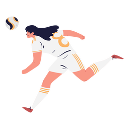 Soccer player character running female