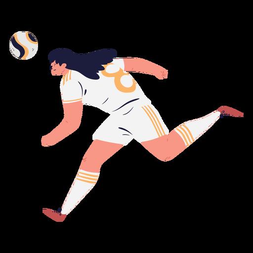 Soccer player character running female