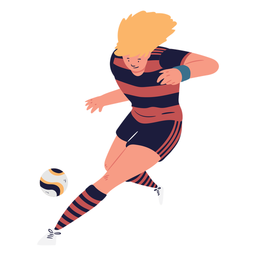 Soccer player chasing the ball character
