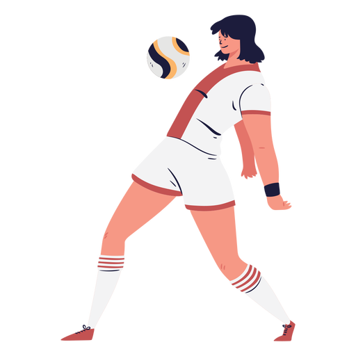 Soccer player chesting the ball