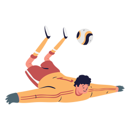 Soccer player goalkeeper