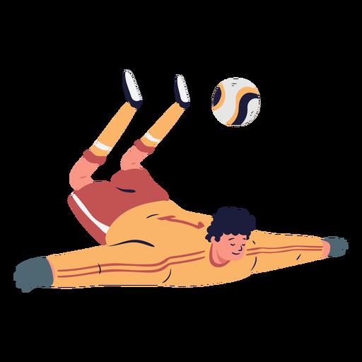 Soccer player goalkeeper