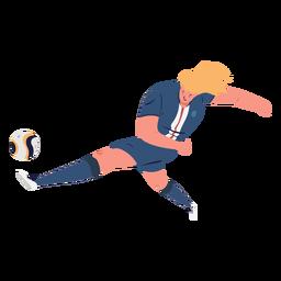 Soccer player kicking ball illustration
