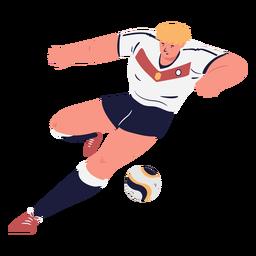 Tiro de personaje masculino de jugador de fútbol