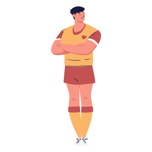 Soccer player man character