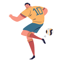 Soccer player passing ball character