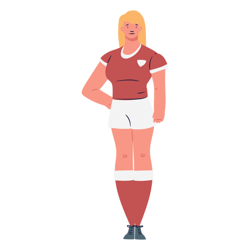 Soccer woman player standing