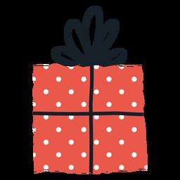 Ilustración de sobre de caja de regalo de manchas