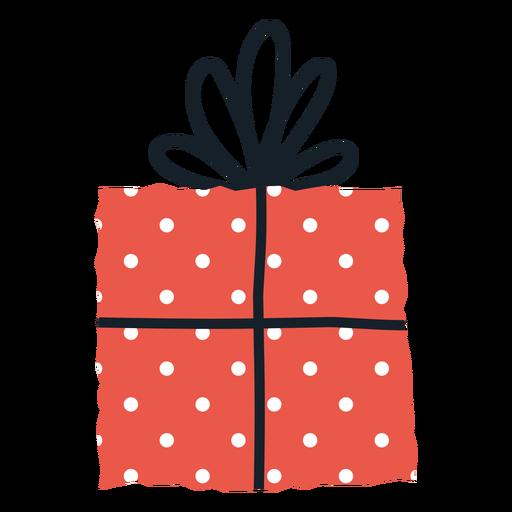 Spots gift box envelope illustration