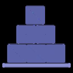 Silueta de icono de cajas de pila