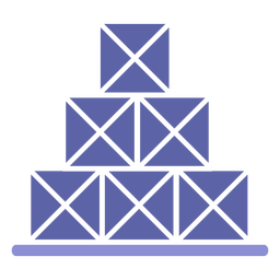 Stack boxes icon silhouette
