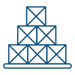 Trazo de icono de cajas de pila