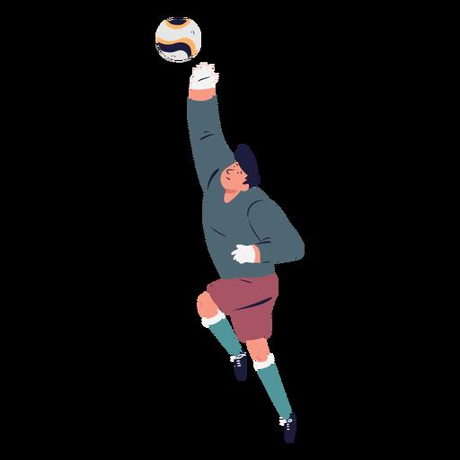 Standing catching ball goalkeeper character Transparent PNG