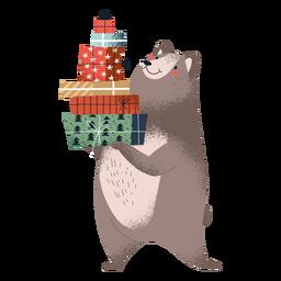 Ilustração de urso fofo em pé