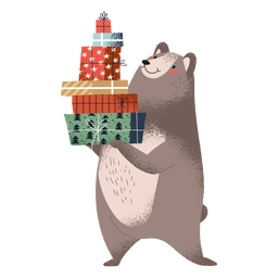 Ilustración de oso lindo de pie