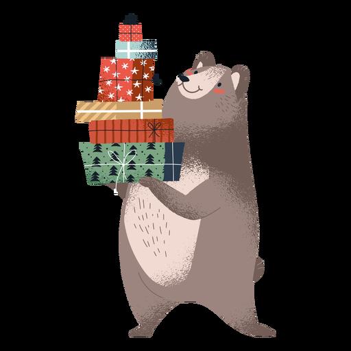 Standing cute bear illustration Transparent PNG